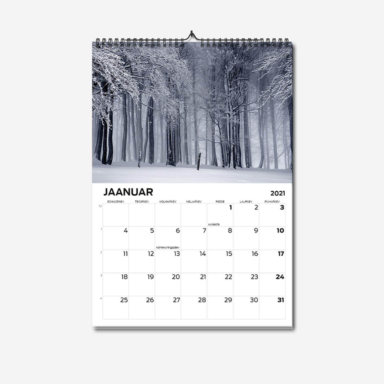 A3 spiraalköites seinakalendri trükk - oma disainiga kalender