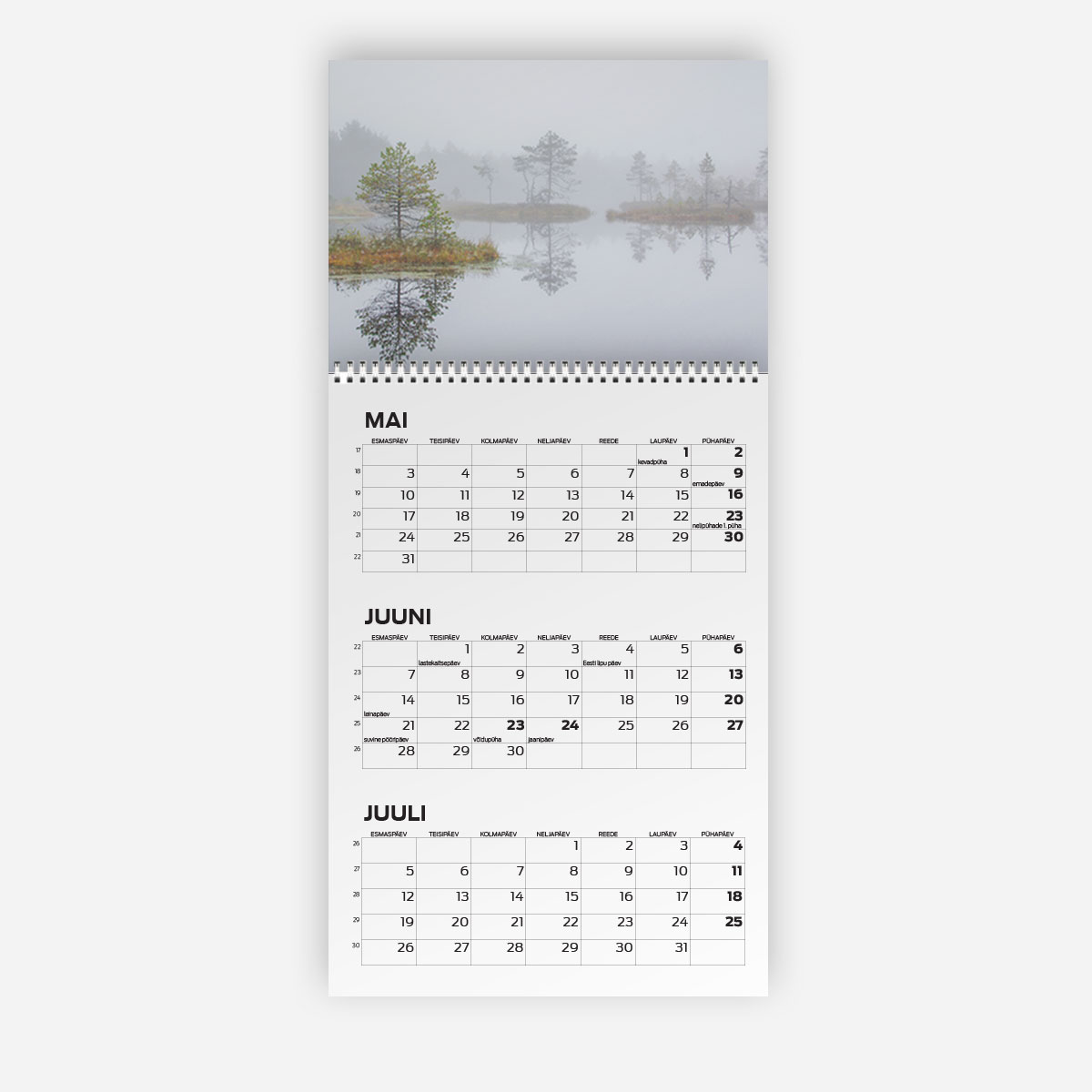 Triokalender A4 päisega - oma disainiga kalender
